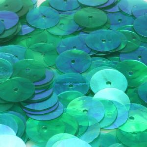 Sequins, Dark green, Diameter 10mm, 250 pieces, 10g, Disc shape, Sequins are shiny, [CZP389]